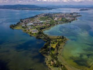 Luftbild von der Reichenau